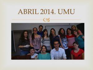 I CURSO CIRUGIA MENOR UMU. Celebrado en la facultad de Medicina de la Universidad de Murcia. Abril 2014..