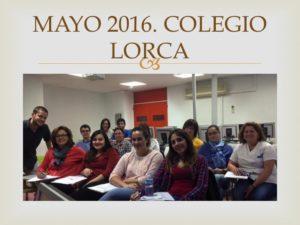 II CURSO CIRUGIA MENOR PARA ENFERMERIA II. Organizado por el Colegio de Enfermería de la Región de Murcia. Sede Lorca. Mayo 2016.