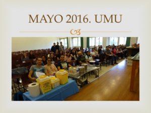 II CURSO CIRUGÍA MENOR UMU. Celebrado en la facultad de Medicina de la Universidad de Murcia. Mayo 2016.